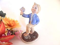 Blond Boy Figurine Vintage Lenox Mondays Child Day of The Week Porcelain Collectible Home Decor Mothers Day Mom Grandma Gift