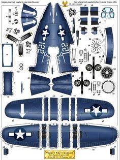 corsair paper model
