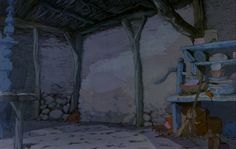 The sword in the stone Environment Painting, Environment Design, Gothic Castle, Spooky Trees, Sword In The Stone, Animation Background, Comedy Films, Birds Eye View, Beautiful Textures