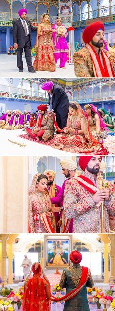 Elegant Sikh Wedding Ceremony. For more inspiration visit www.zokah.ca.