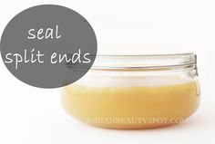 Homemade beauty – Seal Split Ends @Amber Dooley Extreme temperature makes our hair dry and result to split ends. We find something that may help us. #haircare