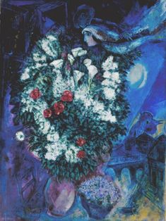 Marc Chagall, 'Bouquet with Flying Lovers' c.1934–47