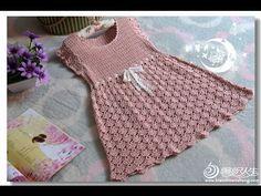 Crochet For Kids Crochet Girls Dress Pattern, Crochet Toddler Dress, Crochet Summer Dresses, Crochet Vest Pattern, Baby Dress Patterns, Baby Clothes Patterns, Crochet Baby Clothes, Crochet Patterns, Free Pattern
