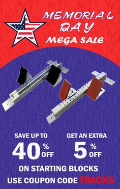 Do not miss our Memorial Day Sale! Take an additional 5% off Already Reduced prices of up to 40% off on starting blocks