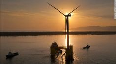The Floating Turbine - cost $20 million to manufacture and can produce enough electricity to power 1,300 homes