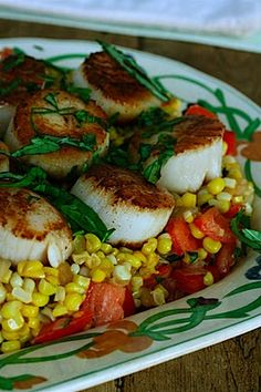 Summer Scallops with Sweet Corn & Tomato Succotash