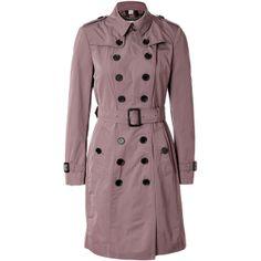 BURBERRY LONDON Pink Rosewood Pack-Away Mountbatten Trench Coat