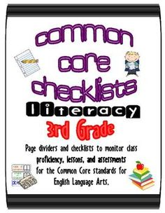 This is a great organizational and planning tool to track of the COMMON CORE standards  you teach during the year!