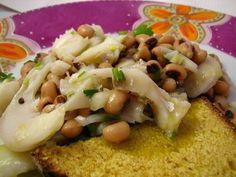 Salada de Bacalhau com Feijão Frade