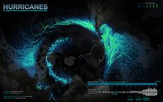 Map of all of Earth's hurricanes since 1851, by IDVsolutions, via Flickr