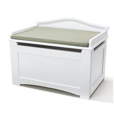 Pinch free top  Stork Craft® Solid Wood Cushioned Toy Box - Sears | Sears Canada