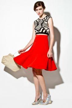 Vintage 1960s Red Skirt: http://thriftedandmodern.com/vintage-1960s-cherry-red-skirt