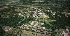 Aerial View of UNC Charlotte, from te UNCC Master Plan 2010 (Football field included towards the bottom half with an extended CRI complex)