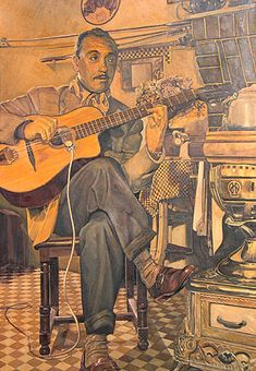 "Jean ""Django"" Reinhardt: (23 Jan 1910 – 16 May 1953) Pioneering French Virtuoso Jazz Guitarist & Composer.  One of The Greatest Guitar Players of All Time. Invented entirely new style of jazz guitar technique, living musical tradition within French gypsy culture. With violinist Stéphane Grappelli, co-founded Quintette du Hot Club de France, ""one of the most original bands in history of recorded jazz.""  wikipedia http://www.bing.com/images/search?q=samois"