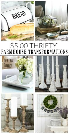 Little House of Four - Creating a beautiful home, one thrifty project at a time. Country Farmhouse Decor, Farmhouse Chic, Rustic Decor, Rustic Table, Farmhouse Ideas, Farmhouse Design, Urban Farmhouse, Cottage Farmhouse, White Farmhouse