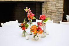 bud vase wedding round table - Google Search