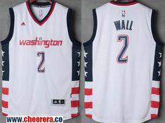76222c01943 Men's Washington Wizards #2 John Wall White Stitched NBA 2016-17 Adidas  Revolution 30 Swingman Jersey