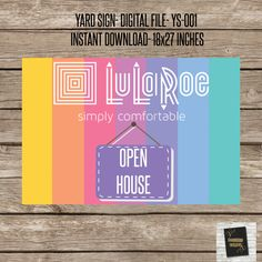 LulaRoe Yard signs! - YS-001- Instant Download yard sign for your Lularoe Business!- Perfect for your POP-UP Boutique Parties!- by DesignsCandyShop on Etsy