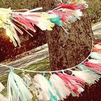 DIY Tissue Tassel Garland
