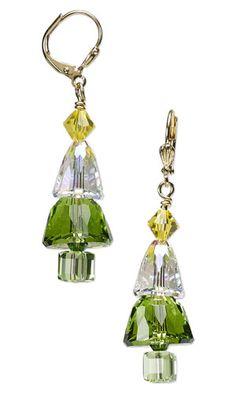 Christmas Tree Earrings with SWAROVSKI ELEMENTS