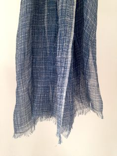 19 Andrea's 47 Cashmere Blue Striped Scarf Made from Linen and Silk it is soft to touch and has delicately loose edging. A light, flowing scarf for spring and summer. Soft Furnishings, Lace Skirt, Cashmere, Touch, Silk, Spring, Skirts, Summer, Blue