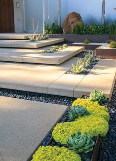 Stepping stone stairs for home entryway. Elevated and modern.