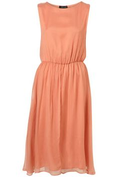 Topshop Blush Midi Skirted Dress