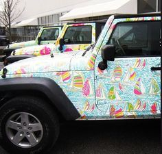 A LILLY JEEP! Is this real life??? Found my first car......