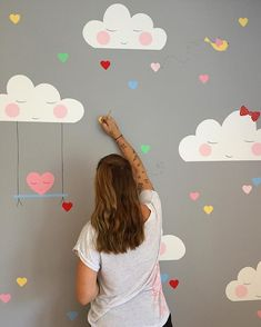 Me gusta, 39 comentarios - The Artistic Paintings (The Artistic Paint . Baby Room Diy, Baby Bedroom, Baby Room Decor, Girls Bedroom, Fantasy Bedroom, Pastel Decor, Diy Bebe, Little Girl Rooms, Room Colors