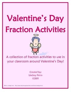 ERRORS HAVE BEEN FIXED. PLEASE DOWNLOAD AGAIN! This FREE product offers three fraction activities with fun Valentine's Day themes! Answer keys ...