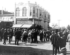 Of course, 1911 had its share of tragedy as well.  Mr. John Lamkin was murdered in his own shop, Lamkin Graham Co., by one of his very own customers. The day following the tragedy, a group of understandably angered Porterville citizens gathered on Main Street, in front of Lamkin Graham Co. to express their concern and condolences (left). Constable Edward B. Isham apprehended the outlaw and the justice received by the killer was life in prison.