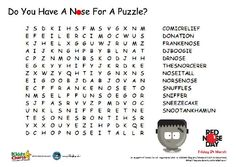 Want to keep the kids entertained for Red Nose Day - here is a Comic Relief wordsearch!