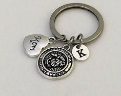 Marine Corps Keychain, USA Marine Corps Mom keychain, Military keychain, Soldier jewelry, Marine Corps jewelry, Navy Mom Navy Wife jewelry