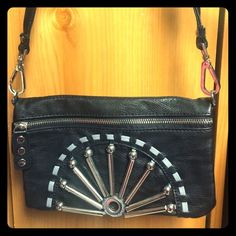 👜Nicole lee small faux leather bag👜 Nicole lee faux leather bag. Scuffs on one side of the strap. Also, straps can come off so it becomes a clutch! Nicole Lee Bags