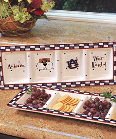 Take a look at this Auburn Game Day Relish Tray by The Memory Company on #zulily today!