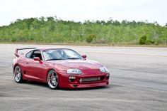 Toyota Supra, beautiful car. I love the 90's 3. The Rx7, Supra and 300ZX.
