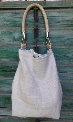 Vintage Leinen Tasche von LIZ&SAB auf DaWanda.com