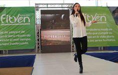 La hermosa Daniella Cabello animó la Eco-Pasarela Chévere de la FitVen 2014.