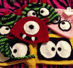 Yo Gabba Gabba crochet hats