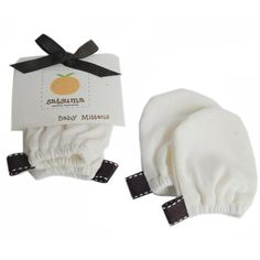 Satsuma Designs Baby Mittens, Natural, One Size