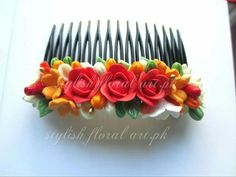 Handmade paper clay hair comb