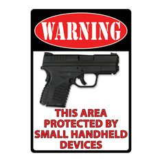 Rivers Edge Products 12-inch x 17-inch 'This Area Protected' Tin Sign