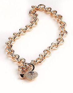 Juicy Couture Bracelet Rose GoldTone Glass Buckle Bangle Bracelet