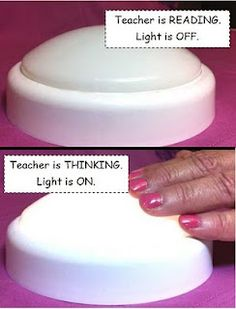 A visual for Think Alouds...could also be used as a signal that the teacher is unavailable (like during guided reading or writing conferences.)