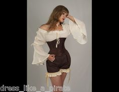 Dress Like A Pirate Pirate Wench Steampunk or Gypsy Bell Sleeve Blouse O s 3X | eBay