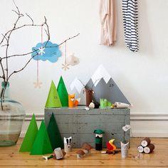 fabriquer-calendrier-Avent-sapins-Noel-papier-vert calendrier de l'avent