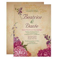 Woodland Floral Wedding Invitations