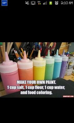 Homeade paint! I'm gonna have a paint fight!