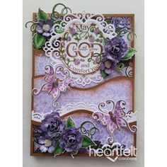 Heartfelt Creations - Lavender Roses And Butterflies Foldout Card Project