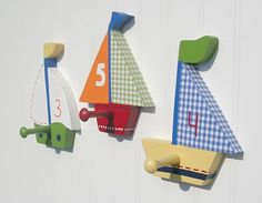 Baby Boats Custom Wall Peg or Decor Piece Without Peg